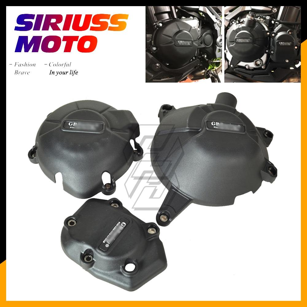 Motorcycle Engine Protection Water Pump Cover Kit Case for GB Racing for Kawasaki NINJA Z900 2017 2018