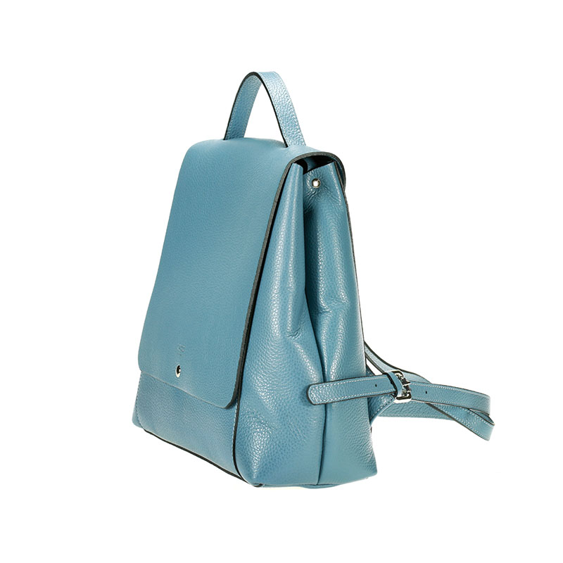 lulu milano  Genuine leather  leather lychee double backpack made in Italy 85144-s 2