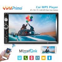 AMPrime car radio 2 din 7 HD autoradio bluetooth aux FM USB auto radio Support DVR and android iphone mirror link Audio Player