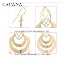 CACANA  Dangle Long Earrings For Women Hollow Fashion Bijouterie Hot Sale No.A123 A124