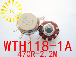 WTH118-1A 1 K 2.2 K 3.3 K 4.7 K 6.8 K 10 K 15 K 22 K 33 K 47 K 220 K 330 K 470 K 1 M 2 W Enkele Rotary Carbon Film Potentiometer Pot x 50 STKS