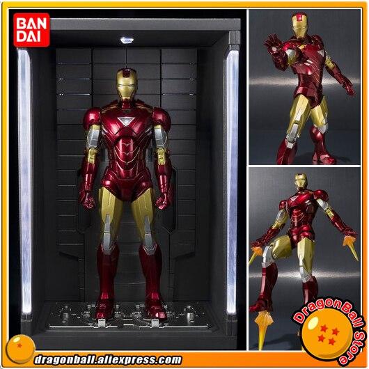 IRONMAN 2 Original BANDAI SHF/ S.H.Figuarts Exclusive Action Figure - Iron Man Mark 6 (MK-6) & Hall of Armor SET original bandai tamashii nations s h figuarts shf action figure iron man mark 3 from iron man