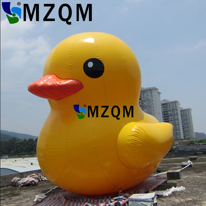 MZQM  4m height PVC inflatable yellow duck for advertising, giant inflatable promotional yellow duck on hot sale inflatable cartoon customized advertising giant christmas inflatable santa claus for christmas outdoor decoration