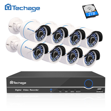 Techage Full HD 8CH NVR 1080P POE CCTV System Kit (8) 2.0MP Outdoor IP Camera Waterproof IR P2P Security Video Surveillance Set