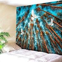 Полиэстер хлопок Ткань Материал богемы Индия Мандала Природа Дерево синий Гобелены пляжные Полотенца Йога Коврики Для ванной Полотенца