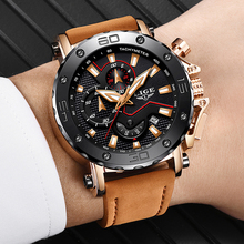 LIGE Men Watches Male Business Date Chro