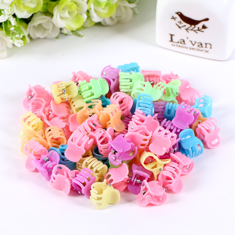 Hot Sale Hair Claws Promotion Fashion 50 Pcs/lot Cute Kids Baby Solid Accessories Princess Children Plastic Girls Clips 5 pcs lot hot sale korean hair accessories candy colors small flower hair claws gripper cute kids girls plastic hairpins