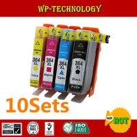 10 Sets Compatible Cartridge Suit For Hp364 Hp364XL Suit For HP B8550 B8553 B8558 C5388