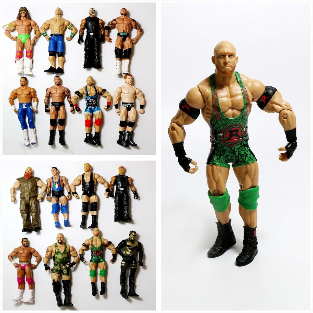 Wholesale 10Pcs/lot Occupation Wrestling Gladiators Movable Multi Joint Model Dolls Wrestler Action Figure toys Free ShippingAction & Toy Figures   -