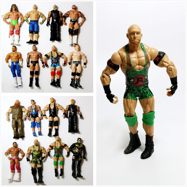 Wholesale 10Pcs/lot Occupation Wrestling Gladiators Movable Multi Joint Model Dolls Wrestler Action Figure toys Free Shipping