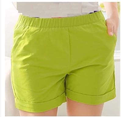 2015 Summer Style Women Plus Size Shorts Female Candy Color Khaki ...