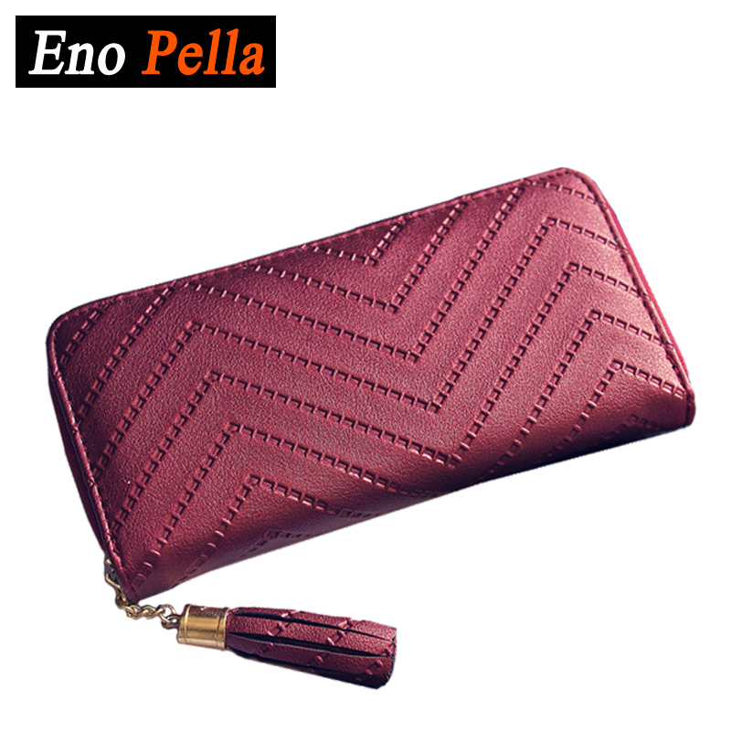 Women Long Wallet Zipper Female Wallets Tassel Ladies Clutch Purses Card Holder Leather Coin Bag femme Brand Purse 2016 sep women wallets zipper short purse clutch coin bag cat wallet women card holder purses carteiras brand women bag