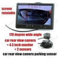 reversing radar camera 3 in 1 car rear view camera parking sensor car video parking sensors camera