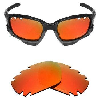 5aa4f0662a Mryok + lentes polarizadas resistentes al agua de mar para gafas de sol  Oakley Jawbone ventilado rojo fuego