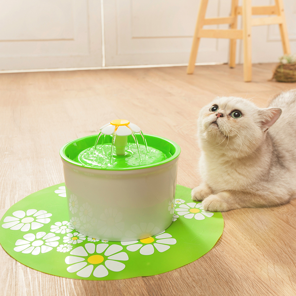 Flower Style Cat Water Drinking Fountain 4
