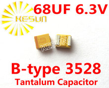 68 МКФ 6.3 В B тип 1210 3528 686J SMD Тантал Конденсатор Разъем TAJB686K006RNJ x500PCS