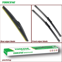 Front And Rear Wiper Blades For Cadillac BLS Wagon 2008 Onwards 23+23+12 Rubber Windscreen Windshield Wipers Car Accessories