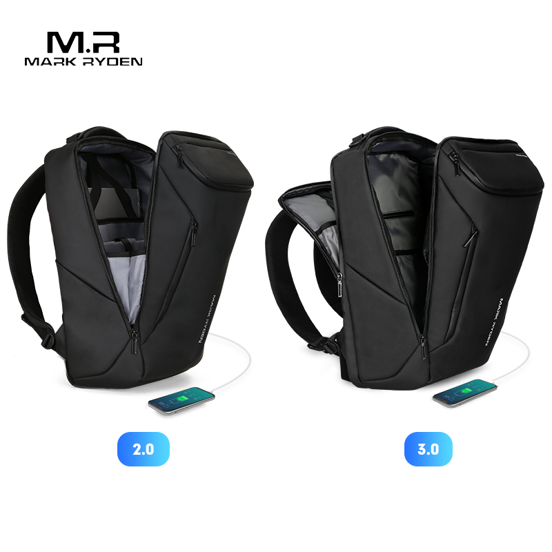 Image 2 - Mark Ryden 2019 New Anti thief Fashion Men Backpack Multifunctional Waterproof 15.6 inch Laptop Bag Man USB Charging Travel Bag-in Backpacks from Luggage & Bags