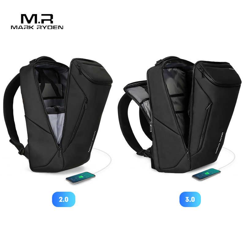 Mark Ryden 2020 Neue Anti-dieb Mode Männer Rucksack Multifunktionale Wasserdichte 15,6 zoll Laptop Tasche Mann USB Lade Reise tasche
