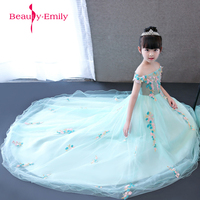 Two style available Princess Flower Girl Dress Summer 2018 light green Wedding and Birthday Party Dresses For Girls Designs