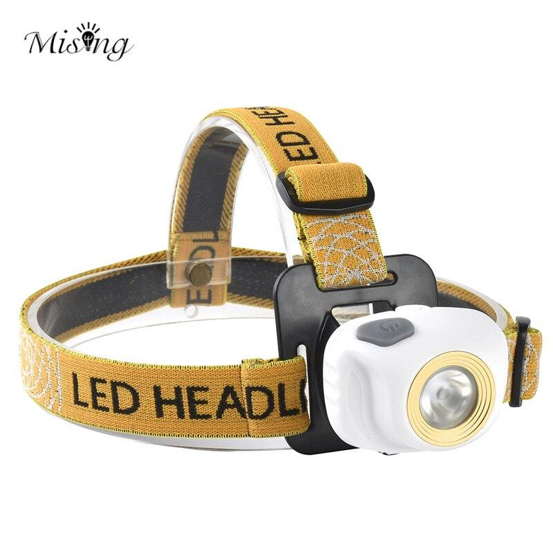 MISING Portable LED Headlamp Cycling Headlights Flashlight Outdoor led Head Lamp Torch Fishing Lantern Light Hunting Searchlight