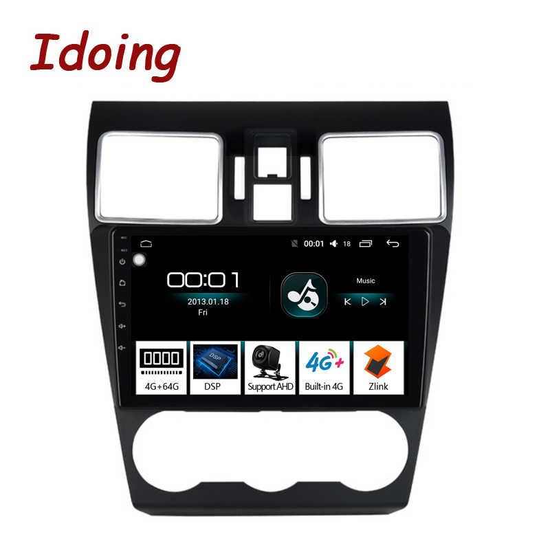"Idoing 9""2.5D Car Android 8.1 Radio GPS Multimedia Player 4G+64G Octa Core For Subaru WRX Forester 2016-2018 Navigation NO 2DIN"