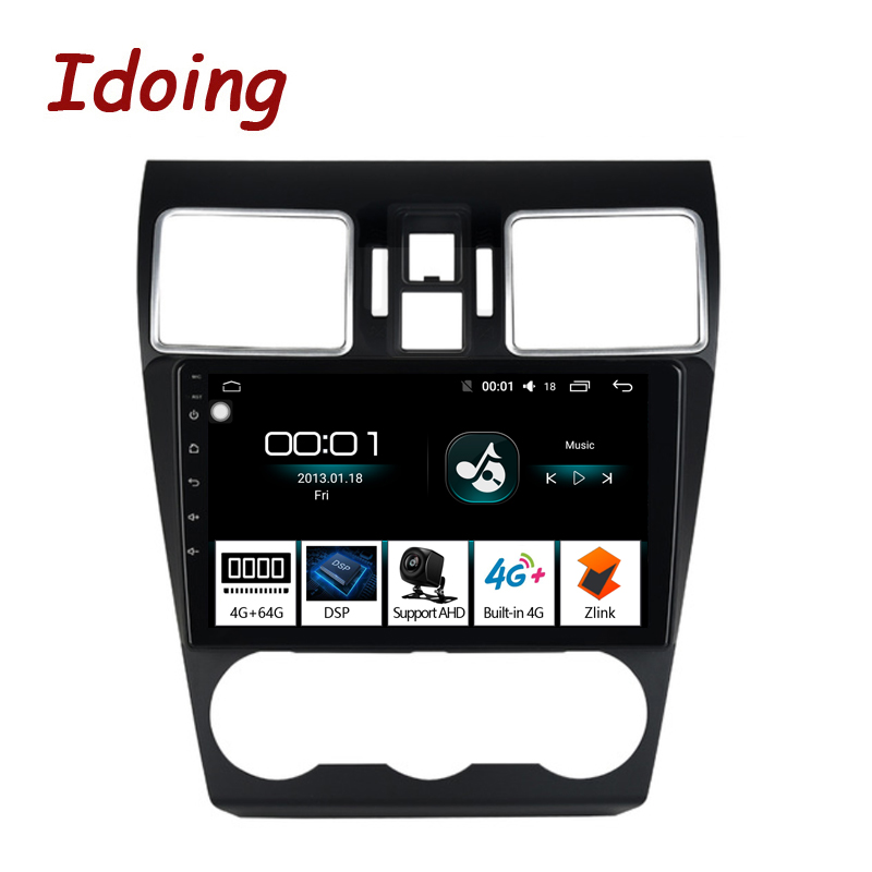 Idoing 92.5D Car Android 8.1 Radio GPS Multimedia Player 4G+64G Octa Core For Subaru WRX Forester 2016-2018 Navigation NO 2DIN