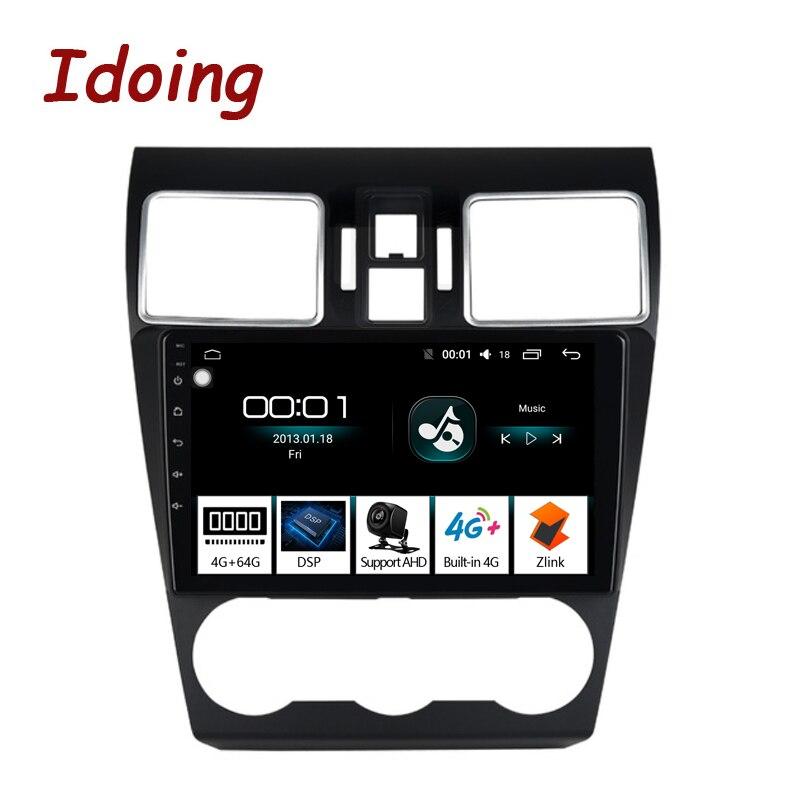 """Lecteur multimédia 4G + 64G Octa de Radio GPS de voiture d'android 8.1 d'idone 9 """"2.5D pour le Forester de Subaru WRX 2016-2018 Navigation aucun 2DIN"""