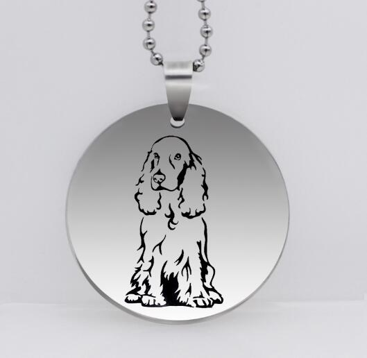 STERLING SILVER TINY AMERICAN COCKER SPANIEL DOG CHARM OR PENDANT