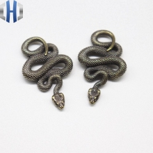 Pure Copper Zodiac Snake Pendant Brass Python Car Key Ring Pendant Antique Hand Piece Collection Keychain stainless steel chinese zodiac keychain snake