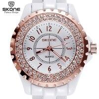 New Luxury Brand Women Ceramic Watch Rhinestone Imported Japan Quartz Watch Promotion
