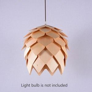 Image 4 - נורדי עץ תליון אור אצטרובל עץ תליון מנורת DIY אמריקאי מודרני תליית מנורת סלון חדר אוכל חדר שינה קפה