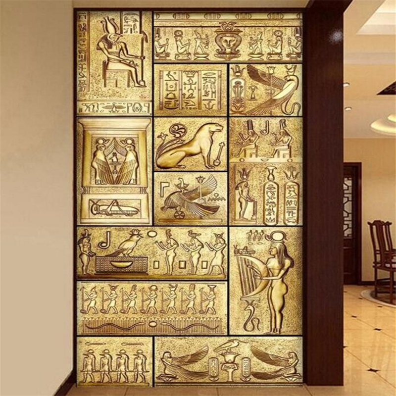 Beibehang art mural HD beauty of ancient Egyptian culture covering Home Decor Modern Wall Painting For Living Room 3D wallpaper egyptian art