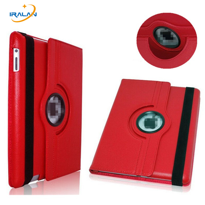 2017 hot 360 Rotating PU Leather Case for New for Apple ipad mini 1 2 3