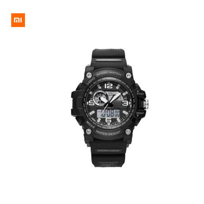 Xiaomi Youpin TwentySeventeen Outdoor Dual Display Electronic Watch Multi-function Dial Dual Time Display 50 Meters Waterproof image