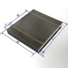 Все алюминиевые плавники для Φ плавники, никелированные плавники 74,3*68*12 мм, радиальные плавники могут сварить плоскую тепловую трубку