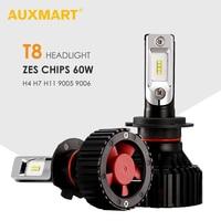AUXMART 2pcs Set H4 LED Headlight For Car 60W 6500K ZES Chips 9005 9006 Led H7
