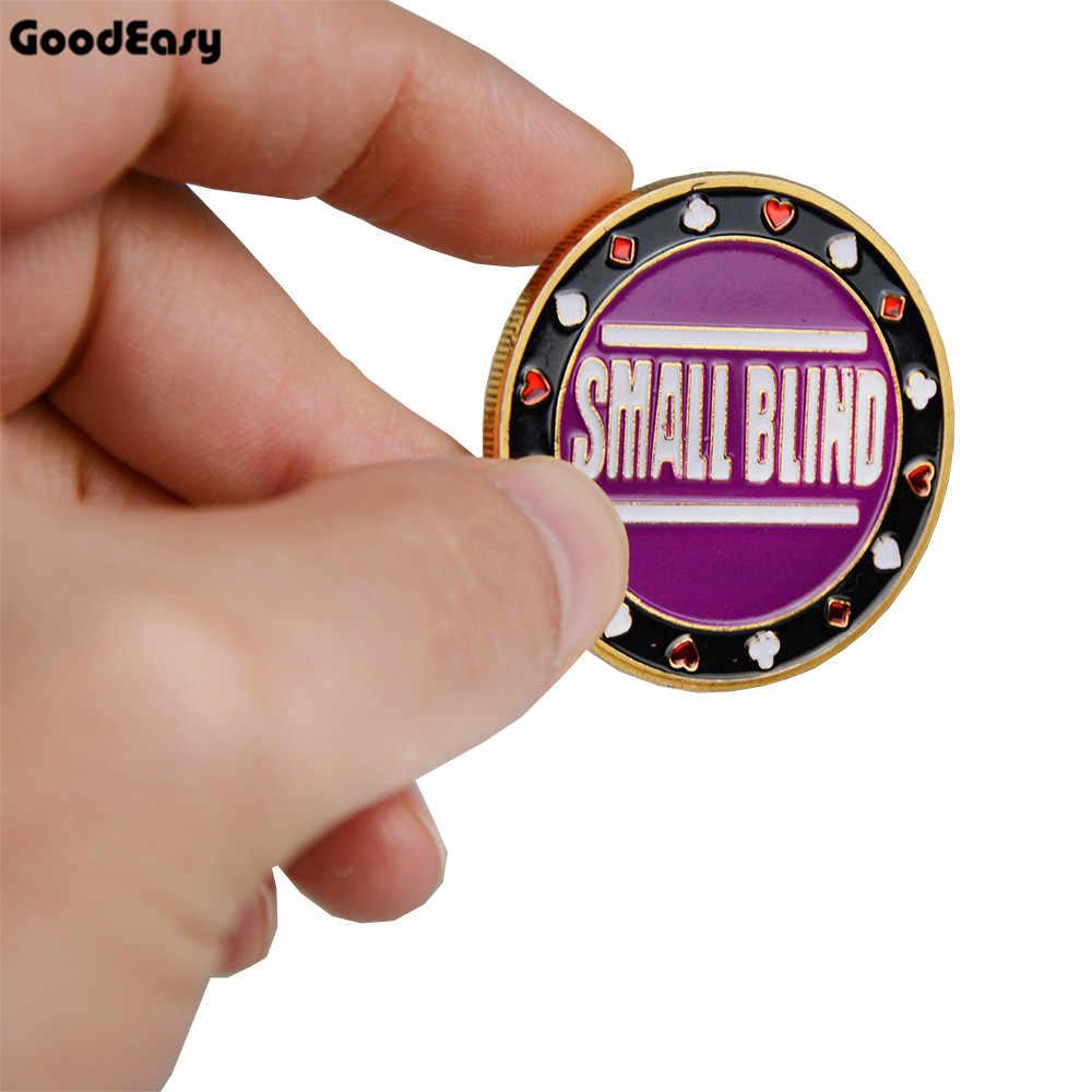 새로운 포커 카드 가드 수호자 플라스틱 덮개가있는 금속 토큰 코인 텍사스 포커 칩 코인 딜러 버튼 스몰 블라인드