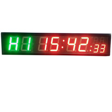 ФОТО freight free 4'' 8digits led countdown clock workout timer for garage home gym crossfit training emom tabata fitness timer