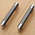"128mm shiny silver kichen cabinet wardrobe door handles black chrome dresser handle 5"" modern fashion  furniture hardware handle"