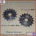 O envio gratuito de alta performance para 250cc SUZUKI motorcycle GN250 GW250 unidade da frente da roda dentada 520 16 T 17 T Pinhão pequeno
