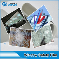 4mil Clear Safety Window Film Protect The Shattered Glass