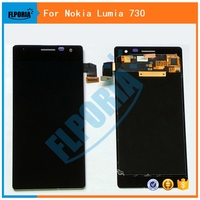 FLPORIA 100 Tested Display For Nokia Lumia 730 735 LCD Display Touch Screen With Digitizer Assembly