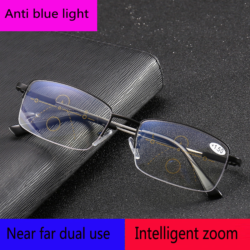 MultifocalProgressive Reading Glasses Men presbyopic glasses Women Far sight Presbyopic Eyeglasses Clear Intelligence Multifocal