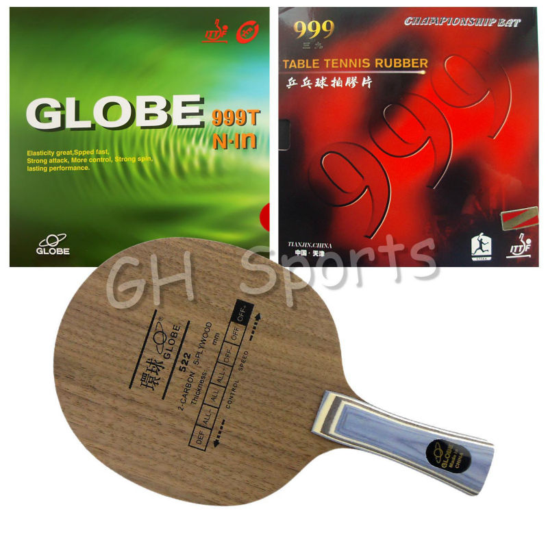 Pro Table Tennis PingPong Combo Racket Globe 522 with Globe 999T Japanese Sponge and 999 999T Shakehand long handle FL sword hd317 table tennis blade for pingpong racket