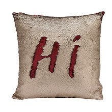 Home Pillow Cover Fashion Sequin Cushion Case Luxurious Two Tone  Continental Mermaid Decorative Pillow Case DIY