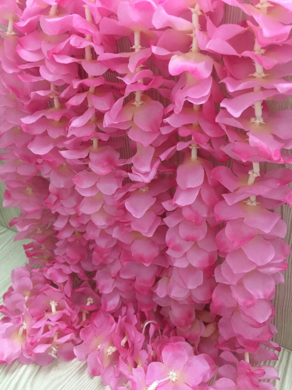 Apricot encrypted natural vertical silk flower string for wedding apricot encrypted natural vertical silk flower string for wedding decoration 1m long flower petal bridal bouquets decoration in artificial dried flowers izmirmasajfo