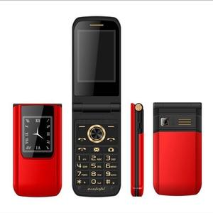 Image 4 - נעילה Flip Slim מגע תצוגה כפולה בכיר טלפון לזקנים שני Sim מצלמה P047
