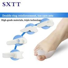 SXTT siliconen binnenzool orthopedische schoenen Arch Ondersteunt voor voeten Orthopedische Inlegzolen Duim Valgus Protector voet Vinger Teen Separator