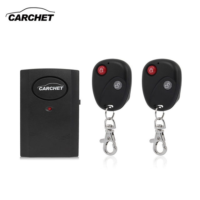CARCHET Motorcycle Alarm Wireless Door Window Anti-theft Security Alarm Sensor Detector 2 Remote Control Theft Protection 120db